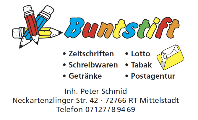 Buntstift Postfiliale